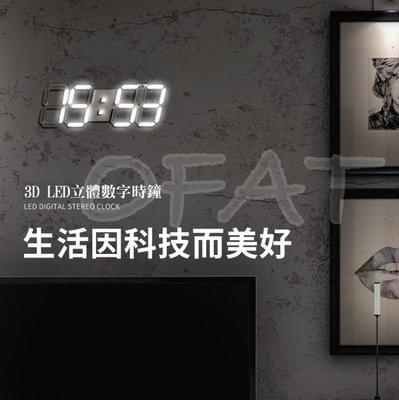 LED數字時鐘時尚工業風立體電子時鐘 ...