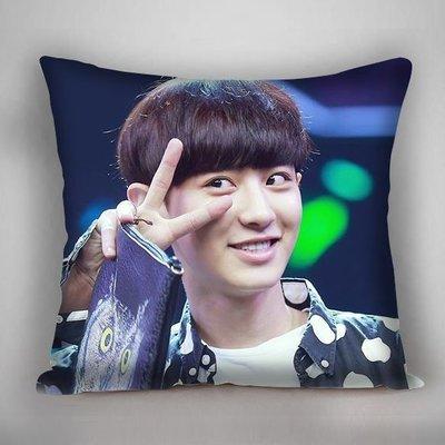 EXO 抱枕  燦烈 抱枕  靠枕  雙面印刷 雙面圖可不同 生日禮 贈品