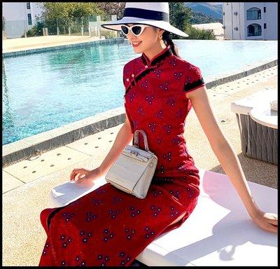 【Fashion歐洲站】教師 長款氣質性感年輕款少女旗袍改良版連衣裙復古高雅中國風