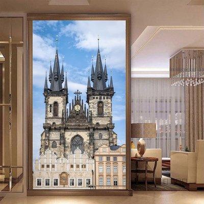 客製化壁貼 店面保障 編號F-490 歐洲城堡 壁紙 牆貼 牆紙 壁畫 星瑞 shing ruei
