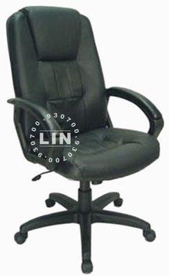 【品特優家具倉儲】342-03辦公椅半牛皮主管椅CH802