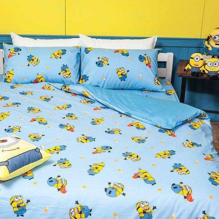 床包 / 雙人加大【小小兵全速前進】含兩件枕套  迪士尼授權  高密度磨毛布  戀家小舖台灣製ABF301