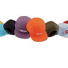 xsPC Supreme 18Fw WASHED CHINO TWILL CAMP CAP 皮扣五分割帽