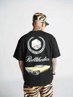 Cover Taiwan 官方直營 凱迪拉克 跳跳車 Lowrider 嘻哈 短Tee 短袖 黑色 大尺碼 (預購)