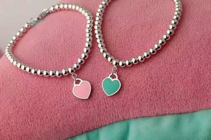 Melia 米莉亞代購 Tiffany&Co. 925純銀 Tiffany 蒂芙尼 項鍊 手鍊 手環飾品 禮物 雙心琺琅
