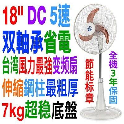 中央興18吋DC馬達涼風扇 UC-DC18