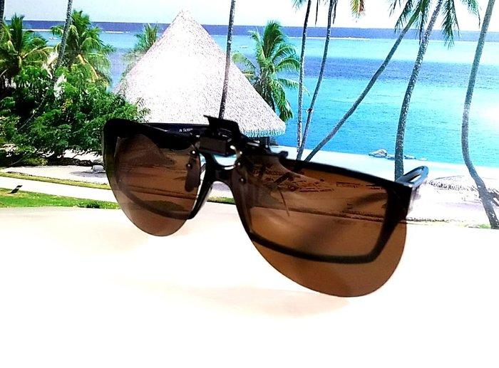 天王星精品 偏光太陽眼鏡夾片 飛行員款(大) 58MM 掛式太陽眼鏡  偏光夾片/ 夾式太陽眼鏡 今夏必備 開車 休閒