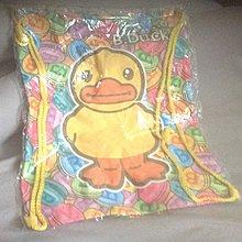 全新黃色小鴨後背包束口袋