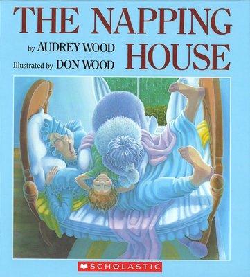 *小貝比的家*THE NAPPING HOUSE (打瞌睡的房子)/平裝+CD/3~6歲【廖彩杏有聲書單】