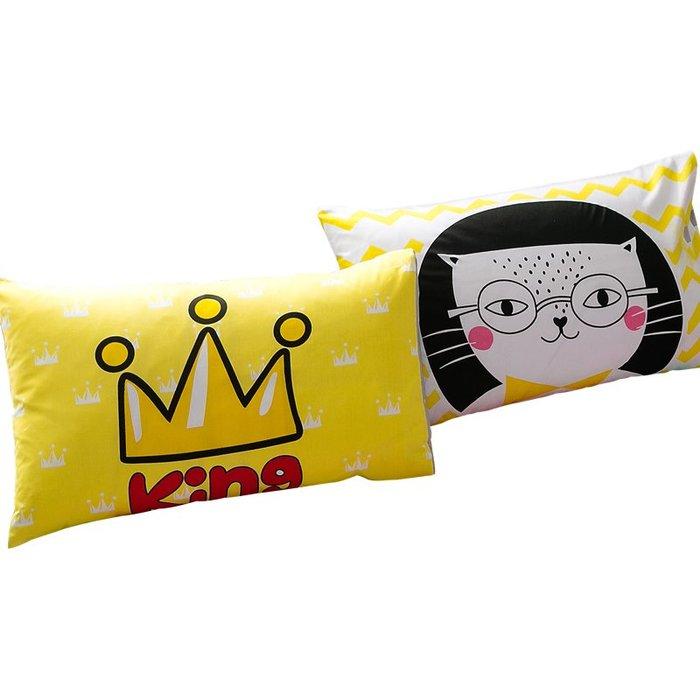 西柚姑娘雜貨鋪☛熱賣中#全棉印花枕套一對裝單人純棉枕頭套學生宿舍枕芯套48x74cm