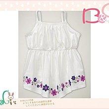 【B& G童裝】正品美國進口GAP Embroidered tank 刺繡花圖樣白色背心上衣4,5yrs