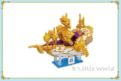 B' Little World *[現貨]東京迪士尼海洋限定商品/15周年黃金船迷你積木/nanoblack/東京連線