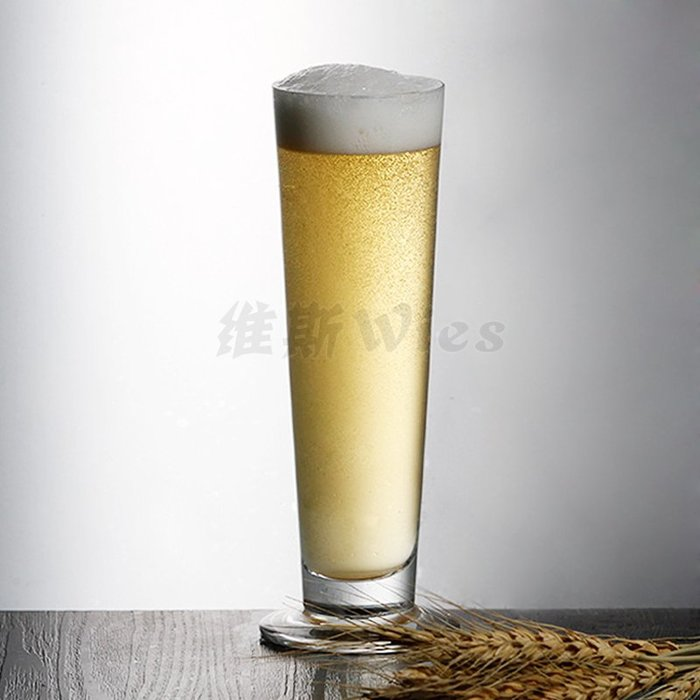 聚吉小屋 #直身啤酒杯 雞尾酒 果汁杯比爾森啤酒杯高身冷飲玻璃杯長飲扎啤杯
