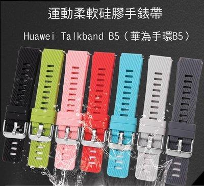 *PHONE寶*Huawei Talkband B5 華為手環B5 運動柔軟硅膠手錶帶 免工具 防水透氣