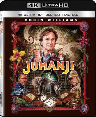 BD 全新美版【野蠻遊戲】【Jumanji 】Blu-ray 4K藍光 UHD + BD