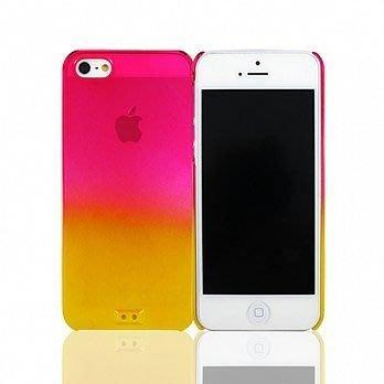 【宇浩電通】Lilycoco iPhone 5 5S SE 亮面 透明 漸層 保護殼 黃桃 現貨 安心亞