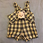 KA二件式嬰兒可愛熊吊帶褲組(55cm)