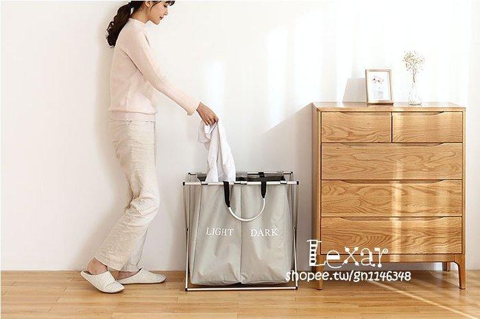 特大號雙格折疊牛津布髒衣籃家用髒衣服收納框浴室換洗衣服籃子