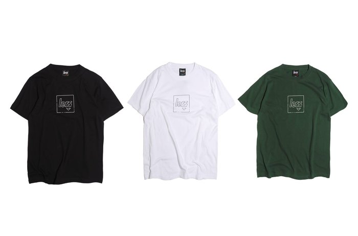 { POISON } LESS DOTTED LINE SQUARE LOGO TEE 點子簡潔設計