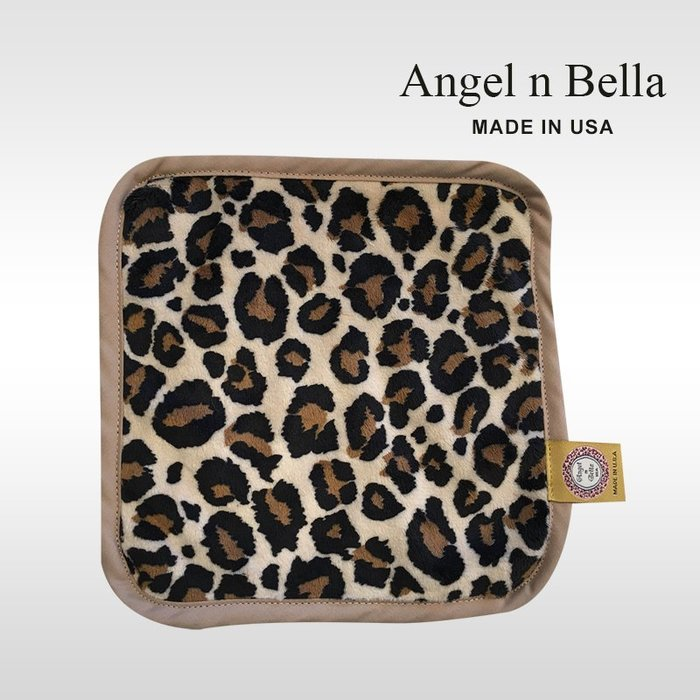 ☆°Angel n Bella.╯☆°【美國製】頂級時尚動物紋手帕-經典大豹 (糖果豆款)