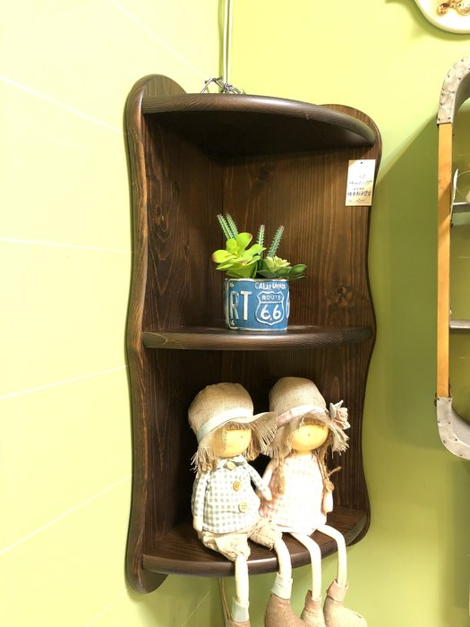 *歐閣傢俱傢飾*.美式鄉村壁櫃.原木層板架.鄉村風馬克杯架.原木角落壁櫃.角落壁架.置物櫃.杯盤架.北歐風組合壁櫃