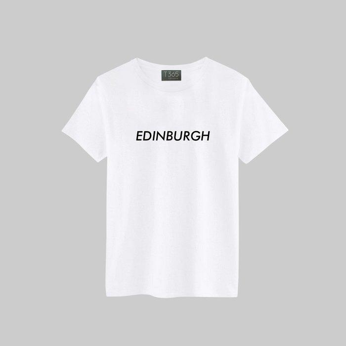 T365 EDINBURGH 愛丁堡 英國 城市 潮流 T恤 男女可穿 多色同款可選 短T 素T 素踢 TEE 短袖