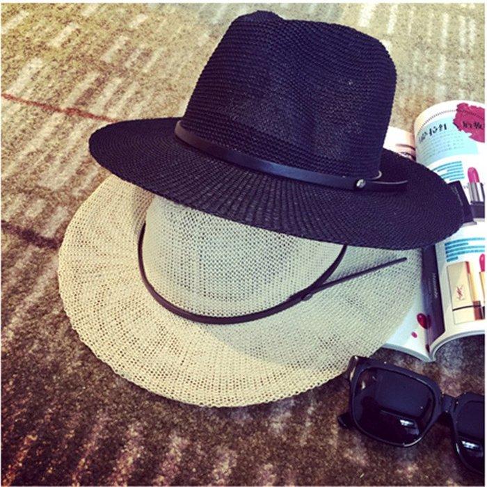 夏天韓版沙灘防曬帽子 女款遮陽帽 防紫外線太陽帽  海邊度假草帽