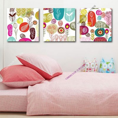 【70*70cm】【厚0.9cm】抽象彩繪-無框畫裝飾畫版畫客廳簡約家居餐廳臥室牆壁【280101_265】(1套價格)