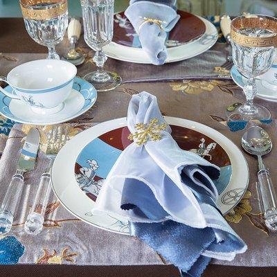 餐具騎士骨瓷餐盤刀叉套裝餐桌飾品歐式美式簡歐樣板擺件