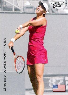 四度WTA年終女單排名第一~2003 NetPro Lindsay Davenport 黛文波特網球新人卡 RC,免郵資