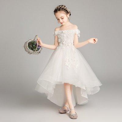 漢服 連身裙 長裙 童裝 旗袍女童走秀禮服裙花童兒童生日蓬蓬紗主持人鋼琴演出服女孩洋氣婚紗