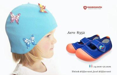 MIT 室內鞋袋組 台灣製 neomnworks 幼兒園室內鞋 Aero8352 手工透氣童鞋+防潑水室內鞋袋