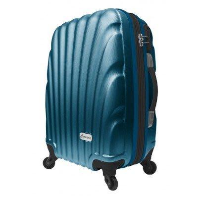 Rowana 全新2014春夏華爾滋貝殼行李箱時尚經典登機箱 ABS材質防刮抗壓輕量化(20吋-墨青色)