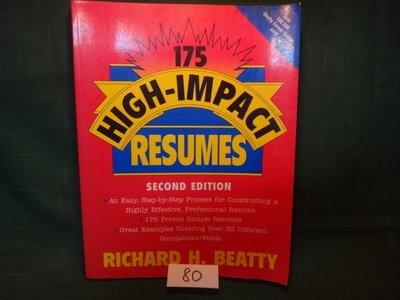 【愛悅二手書坊 03-42】175 High-Impact Resumes