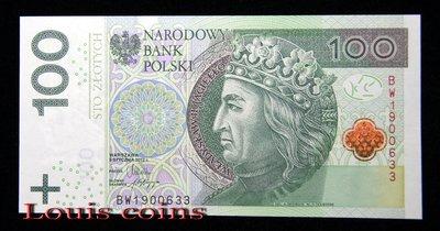 【Louis Coins】B487-POLAND --2012波蘭紙幣100 Złotych