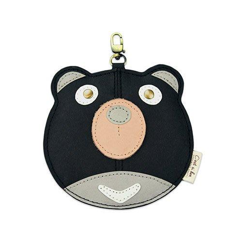 C'est Si Bon|【現貨。免運】洗舊皮革紙鑰匙圈零錢包/卡包-動物狂想曲(Oh熊先生) 禮品 盒裝