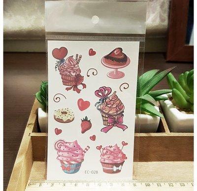 【萌古屋】可愛蛋糕 - 兒童Party卡通防水紋身貼紙刺青貼紙EC-028 K12