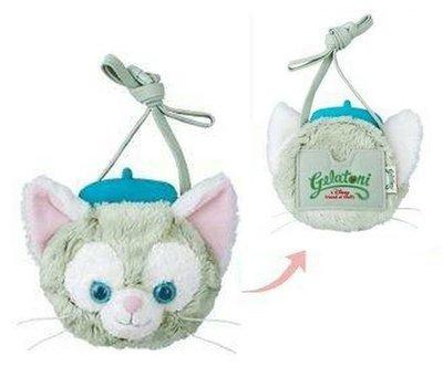 【日本迪士尼代購】Duffy達菲熊的好朋友 Gelatoni 傑拉東尼 畫家貓 大頭票夾零錢包 斜背包 (預購)