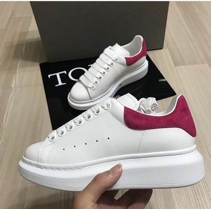 【TONES.】Alexander MCQueen 17SS 厚底鞋 粉尾 金標 限定款 女鞋 麂皮