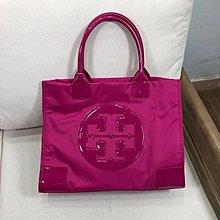 $399 - bag tory burch 超級經典  原單正品防水尼龍 配漆皮 大號 ella tote 包  手袋 袋 桃紅 紫 兩色