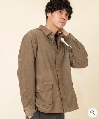 日牌 coen 工作  寬版 口袋 襯衫 咖啡 卡其  M號 RAGEBLUE,HARE,BEAMS,UR