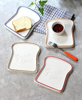 有一間店-歐式簡約早餐盤吐司盤創意奶油色面包盤甜品盤甜品店餐具(規格不同 價格不同)