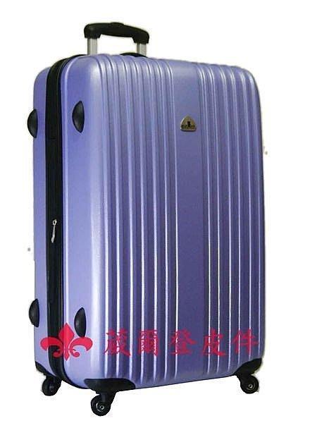 【葳爾登】21吋Bear Box輕硬殼旅行箱防水360度行李箱耐用超輕耐操登機箱bb直紋21吋紫色