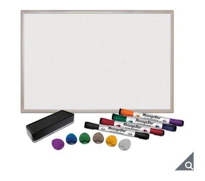 MessageStor 鋁框磁性白板組 61 X 91公分/白板,附雙頭白板筆*4 +板擦+小磁鐵*6/下單前請先問有沒有貨/好市多代購