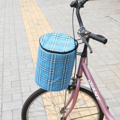 (有蓋子) 快拆式菜籃 布籃 方格籃 手提籃 單車 腳踏車