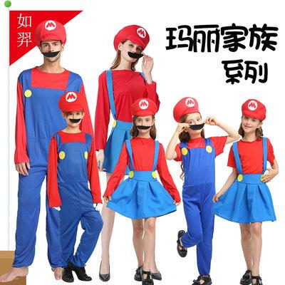人偶服裝cosplay服飾年會表演卡通動漫馬里奧服裝管道大叔同超級瑪麗衣服悠悠