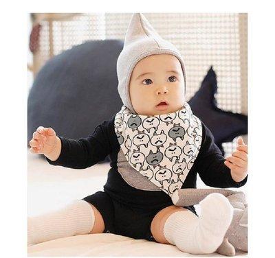 【現貨】韓國可愛貓咪雙面兩用口水巾 圍兜 三角巾 [ MACHI SHOP ]