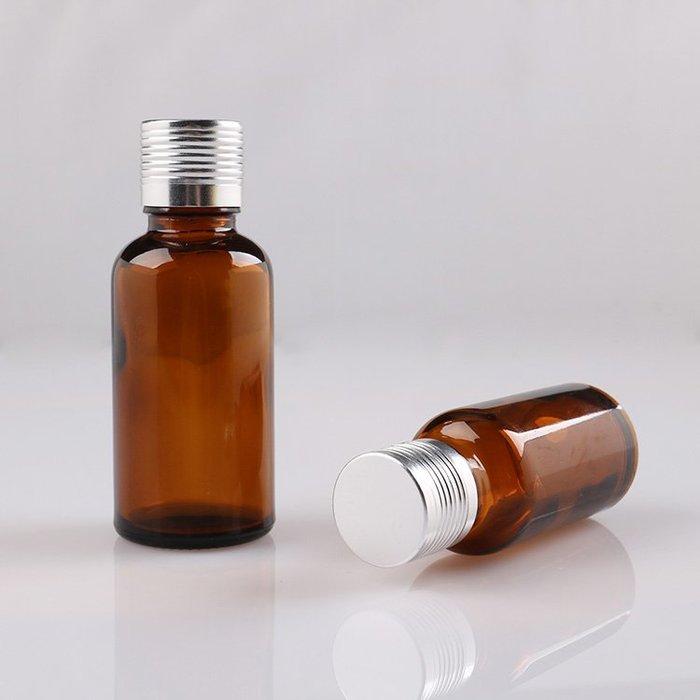 吖吖雜貨店*茶色玻璃分裝瓶子空瓶 精油調配瓶5 10 30 50 100ml小玻璃瓶批發優惠推薦