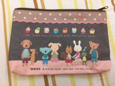 。☆二手☆。Weles威爾斯動物系列正品收納包零錢包化妝包