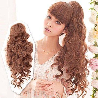 ☆雙兒網☆HOT!材質再升級新耐熱假髮【MF014】髮包式-嬌甜公主系捲髮馬尾